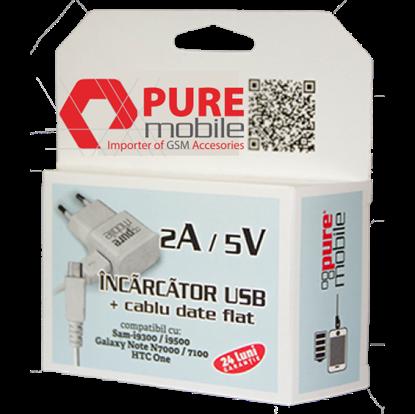 Imagine Pachet 11 x 2A 5V (Incarcator USB + cablu date flat)