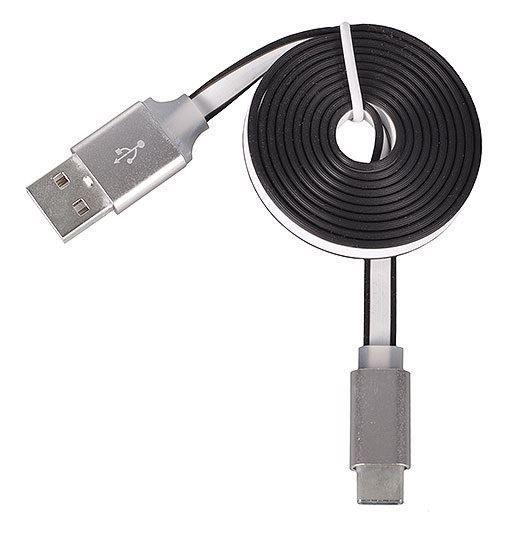 Imagine Incarcator USB 2A/5V + cablu date flat TYP-C