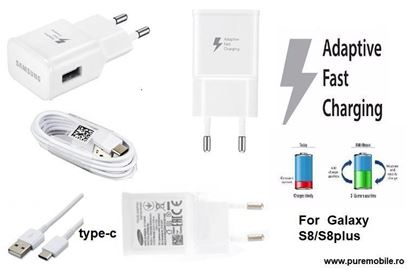 Imagine PACHET 11X FAST CHARGERS 9V/2A  +CABLU DATE  TYPE-C  GALAXYS10,NOTE10, S8/S8PLUS/s9/s9+/Note8,9   10+1 GRATIS