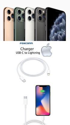 Imagine Cablu Date Usb C to Ligthning  FOXCONN  pentru iphone 11pro/max 9V-Bulk