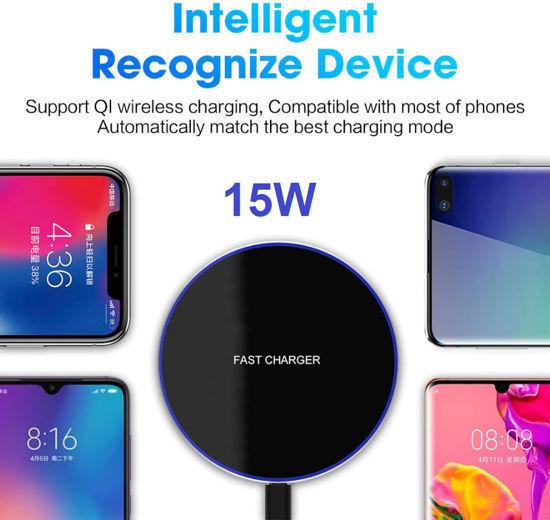Imagine Incarcator Wireless Fast Charge 15W,Ultra Slim 15W +Incarcator FAST Chargers 18W/3.0 -Pentru iphone  11,12 ,12 pro.12 pro max,xs max