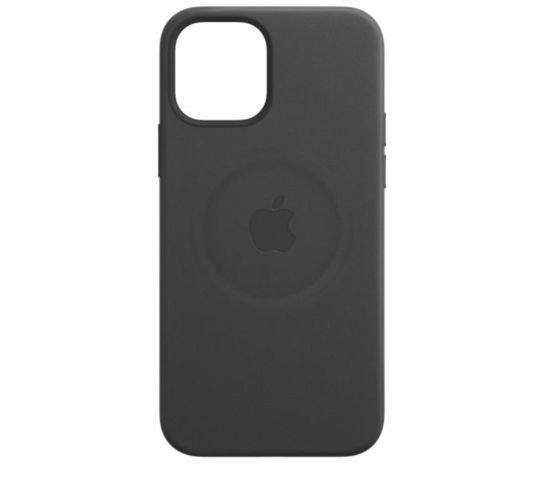 Imagine Husa de protectie Apple Leather Case MagSafe pentru iPhone 12/12 Pro, Black