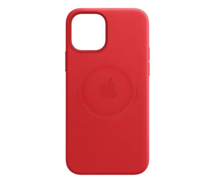 Imagine Husa de protectie Apple Leather Case MagSafe pentru iPhone 12 ProMAX,RED